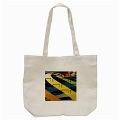 Colorful Docking Frame Tote Bag (cream)