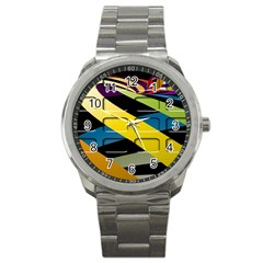 Colorful Docking Frame Sport Metal Watch by BangZart