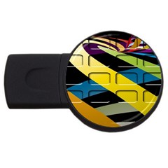 Colorful Docking Frame Usb Flash Drive Round (4 Gb)