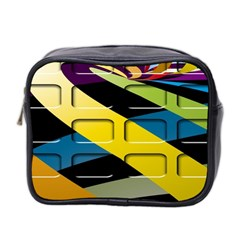 Colorful Docking Frame Mini Toiletries Bag 2 Side by BangZart
