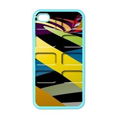 Colorful Docking Frame Apple Iphone 4 Case (color)
