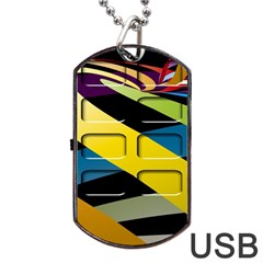 Colorful Docking Frame Dog Tag Usb Flash (one Side) by BangZart