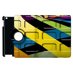 Colorful Docking Frame Apple Ipad 2 Flip 360 Case by BangZart