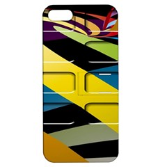 Colorful Docking Frame Apple Iphone 5 Hardshell Case With Stand by BangZart