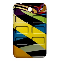 Colorful Docking Frame Samsung Galaxy Tab 3 (7 ) P3200 Hardshell Case  by BangZart