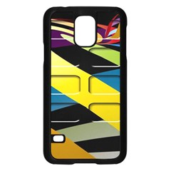 Colorful Docking Frame Samsung Galaxy S5 Case (black) by BangZart