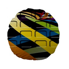 Colorful Docking Frame Standard 15  Premium Flano Round Cushions by BangZart
