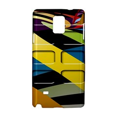 Colorful Docking Frame Samsung Galaxy Note 4 Hardshell Case by BangZart