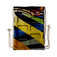 Colorful Docking Frame Drawstring Bag (small)