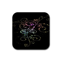 Sparkle Design Rubber Square Coaster (4 Pack)  by BangZart