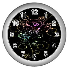 Sparkle Design Wall Clocks (silver)  by BangZart