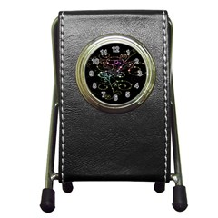 Sparkle Design Pen Holder Desk Clocks by BangZart