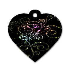 Sparkle Design Dog Tag Heart (one Side) by BangZart
