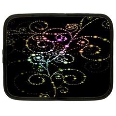Sparkle Design Netbook Case (large) by BangZart
