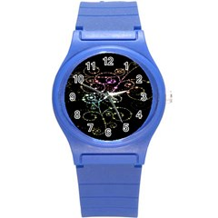 Sparkle Design Round Plastic Sport Watch (s)