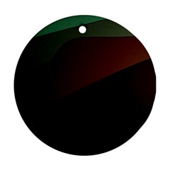 Color Vague Abstraction Ornament (round)
