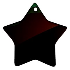Color Vague Abstraction Star Ornament (two Sides)