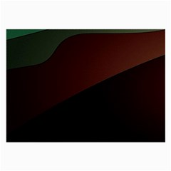 Color Vague Abstraction Large Glasses Cloth (2 Side) by BangZart