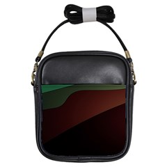 Color Vague Abstraction Girls Sling Bags by BangZart