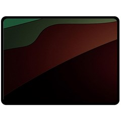 Color Vague Abstraction Fleece Blanket (large)  by BangZart