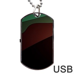Color Vague Abstraction Dog Tag Usb Flash (one Side) by BangZart