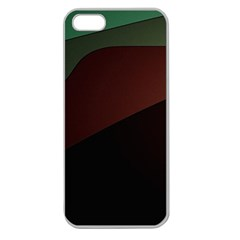 Color Vague Abstraction Apple Seamless Iphone 5 Case (clear) by BangZart