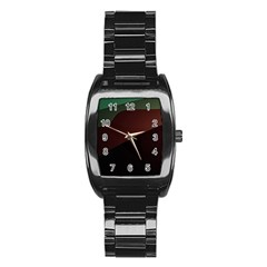 Color Vague Abstraction Stainless Steel Barrel Watch
