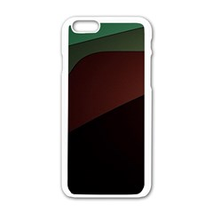 Color Vague Abstraction Apple Iphone 6/6s White Enamel Case by BangZart