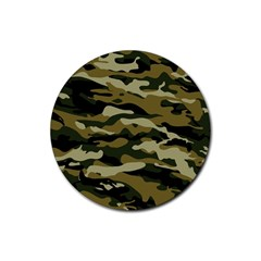 Military Vector Pattern Texture Rubber Coaster (round)  by BangZart