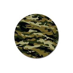 Military Vector Pattern Texture Magnet 3  (round)