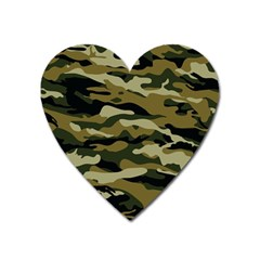 Military Vector Pattern Texture Heart Magnet by BangZart