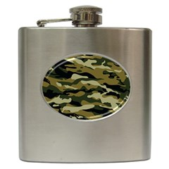 Military Vector Pattern Texture Hip Flask (6 Oz) by BangZart