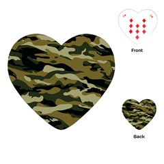 Military Vector Pattern Texture Playing Cards (heart)  by BangZart