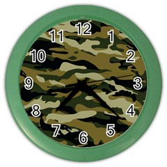 Military Vector Pattern Texture Color Wall Clocks by BangZart