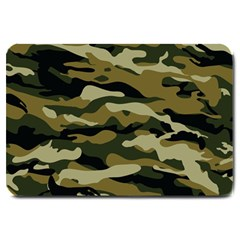Military Vector Pattern Texture Large Doormat  by BangZart