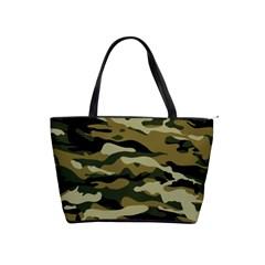 Military Vector Pattern Texture Shoulder Handbags by BangZart