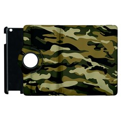 Military Vector Pattern Texture Apple Ipad 3/4 Flip 360 Case by BangZart