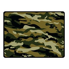 Military Vector Pattern Texture Double Sided Fleece Blanket (small)  by BangZart