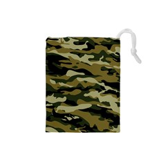 Military Vector Pattern Texture Drawstring Pouches (small)