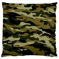 Military Vector Pattern Texture Large Flano Cushion Case (two Sides) by BangZart