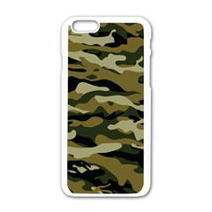 Military Vector Pattern Texture Apple Iphone 6/6s White Enamel Case by BangZart