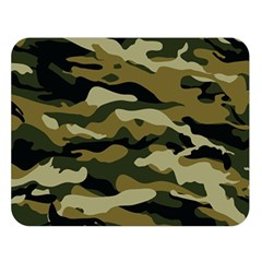 Military Vector Pattern Texture Double Sided Flano Blanket (large)  by BangZart