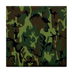Military Camouflage Pattern Tile Coasters