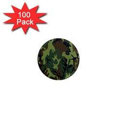Military Camouflage Pattern 1  Mini Magnets (100 Pack)