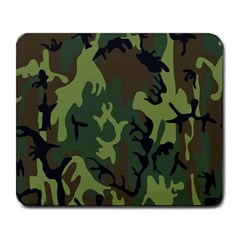 Military Camouflage Pattern Large Mousepads