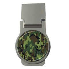 Military Camouflage Pattern Money Clips (round)  by BangZart