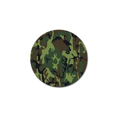 Military Camouflage Pattern Golf Ball Marker by BangZart