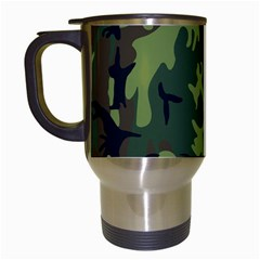 Military Camouflage Pattern Travel Mugs (white) by BangZart