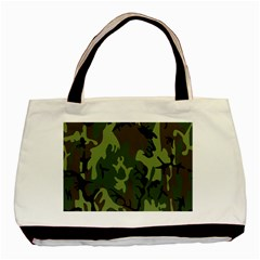 Military Camouflage Pattern Basic Tote Bag by BangZart