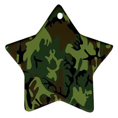 Military Camouflage Pattern Star Ornament (two Sides)
